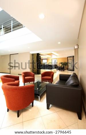 Office reception area - stock photo