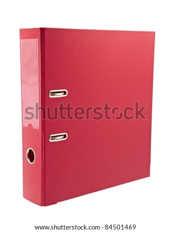 Office red folder - stock photo