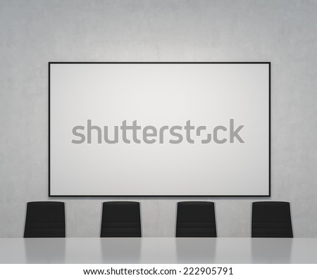Office room with a whiteboard. - stock photo