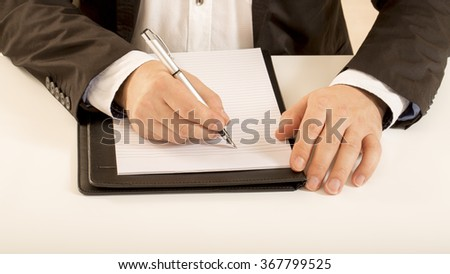 Office sales worker man overworked happy burn out tired - stock photo