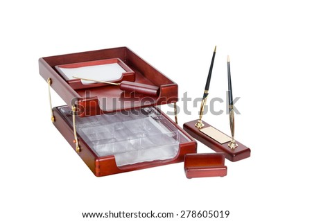 office set on a white background. - stock photo
