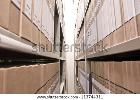 Office shelves - stock photo