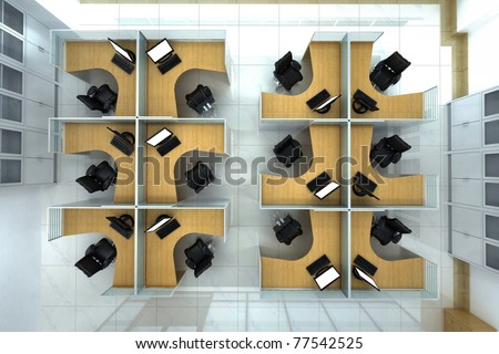 office space - stock photo