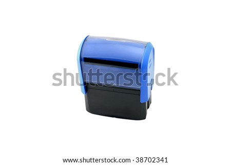 Office stamp isolated on white background. - stock photo
