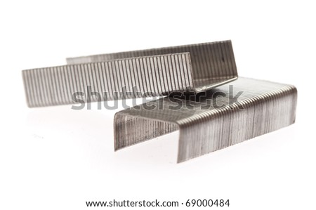 office staples isolated on a white background - stock photo