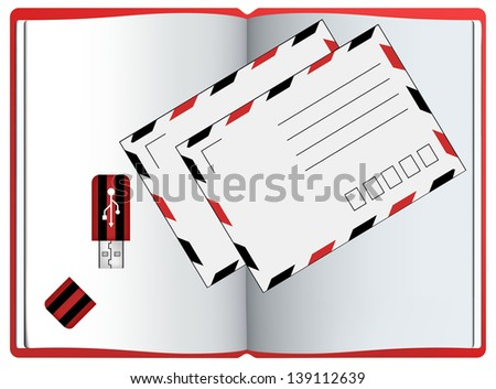 office stationary units. jpg version bitmap - stock photo