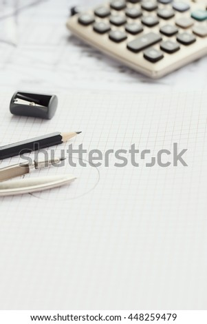 Office. Stationery on the table
