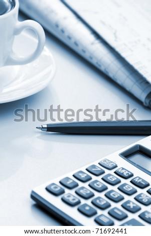 Office still-life - stock photo