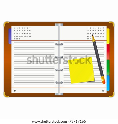 Office supplies on a white background. - stock photo