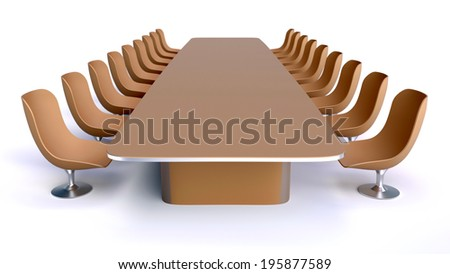 Office table and chairs - stock photo