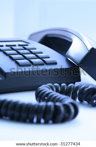 office telephone on a white background
