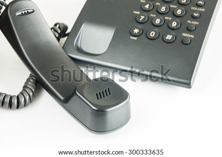 office , telephone receiver  - stock photo