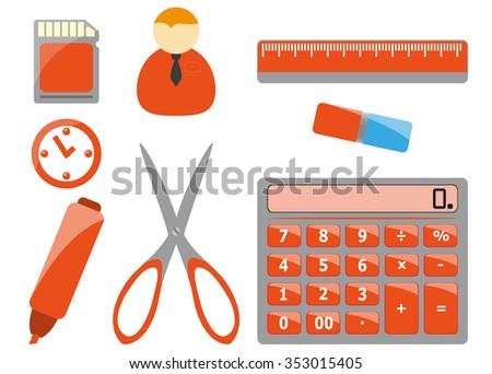 Office tools - stock photo