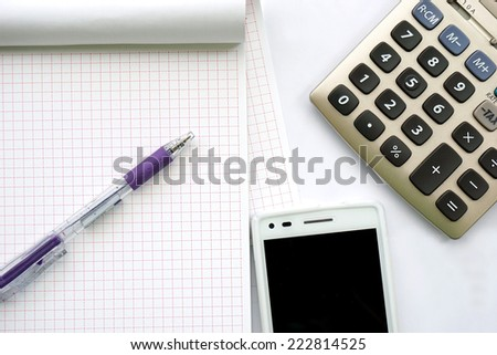 office tools, business concept - stock photo