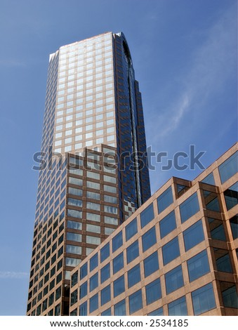 Office Tower in Charlotte Wachovia Tower - stock photo