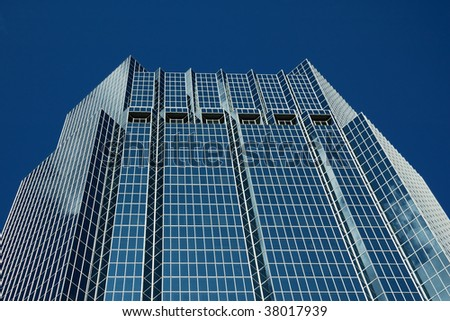 Office tower with blue reflective glass