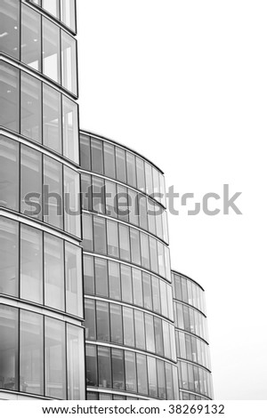 Office towers on white - stock photo