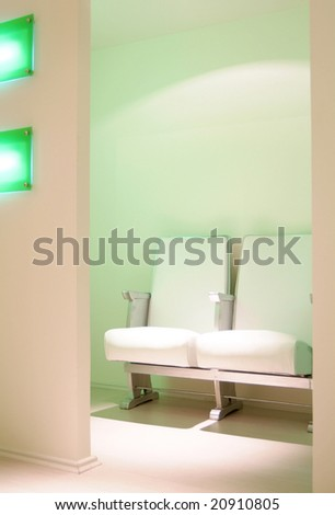 office waiting room - stock photo