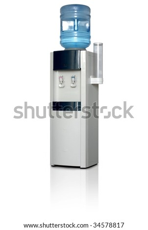 Office water dispenser. Isolated on white background with clipping path.