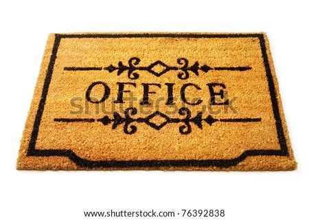 Office welcome mat - stock photo