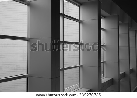 Office window ion the building. - stock photo
