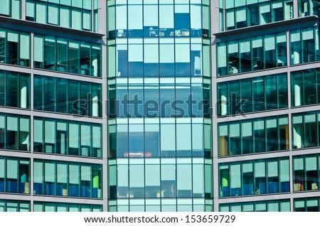 office windows - stock photo
