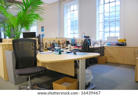 office work place - stock photo