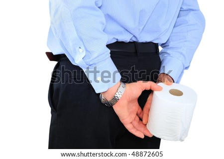Office worker is stealing from employer - stock photo