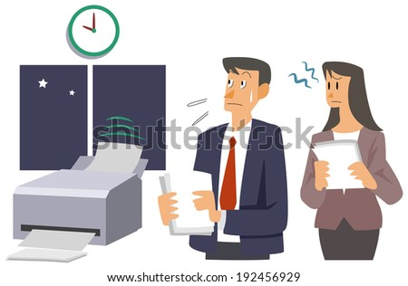 Office worker - It takes time - stock photo