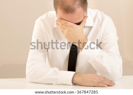 Office worker man - stock photo