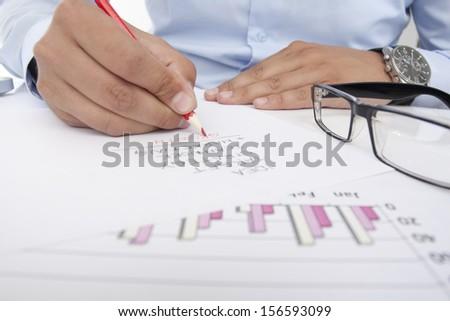 office worker plan future activities - stock photo