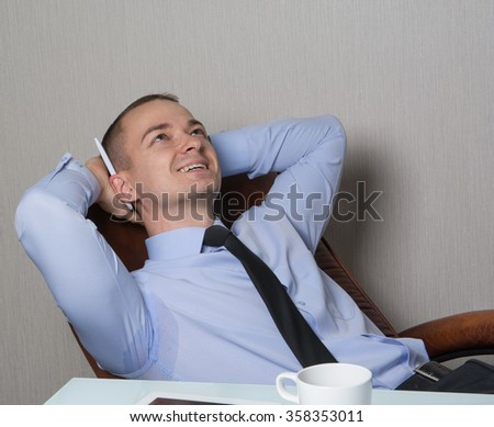 office worker sitting in a chair