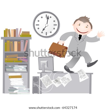 Office workers. - stock photo