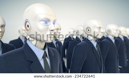Office workers army - stock photo
