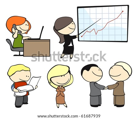 Office workers (raster version) - stock photo