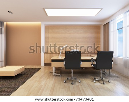 Office Working Area - stock photo