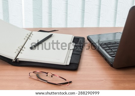 Office workplace with computer - stock photo
