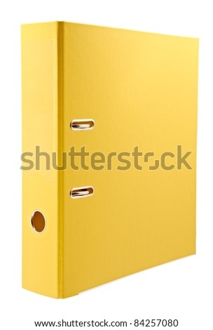 Office yellow folder - stock photo