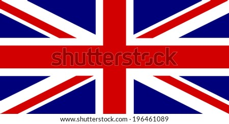 official British flag - stock photo