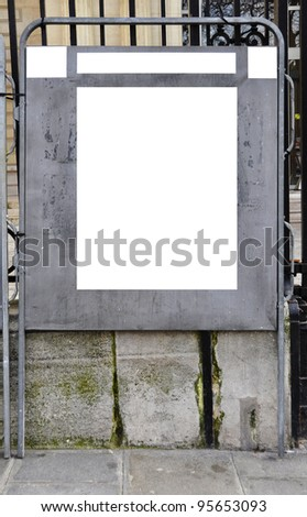 Official election billboard with copy space, in Paris, France - stock photo