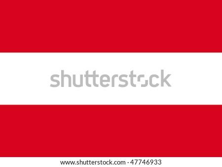 Official Flag of Austria, illustration - stock photo