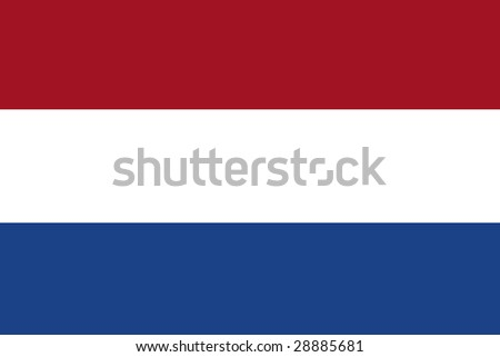 official flag of holland / netherlands - stock photo