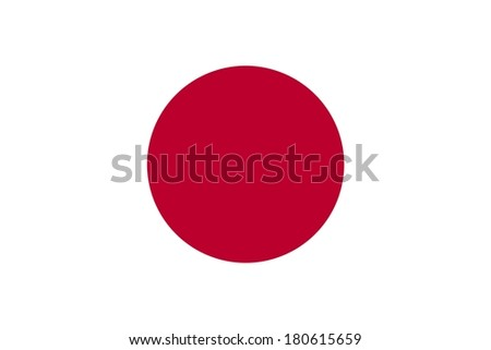 Official flag of Japan nation