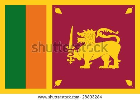 official flag of sri lanka - stock photo