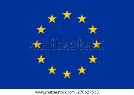 Official Flag of the European Union Flat Large Size Horizontal - stock photo