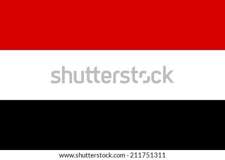 Official flag of Yemen nation - stock photo