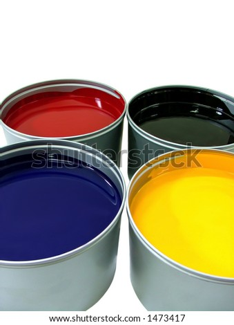 Offset paint can - stock photo