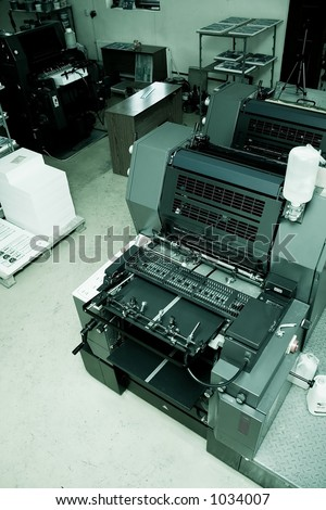 Offset Printing Machine in print shop