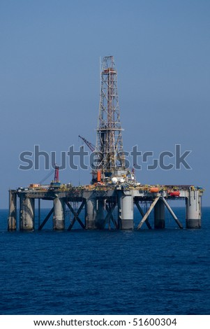 offshore drilling rig - stock photo