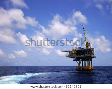 Offshore Production Platform For Oil and Gas Development - stock photo